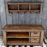 XX**Custom Rustic Double Stacked Bench and Shelf Cubby Set for Dustin**XX