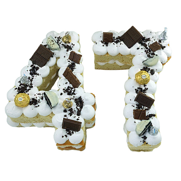 Pastel Numbers Chocolate Blanco