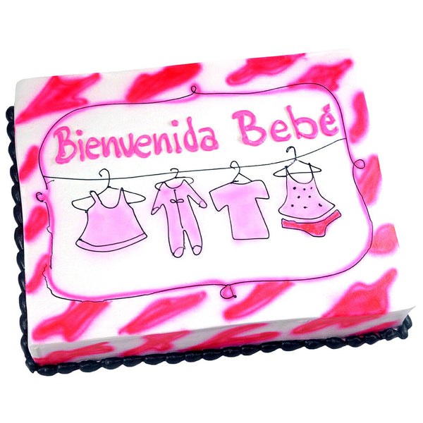 Pastel Baby Shower Pink Baby - Económico