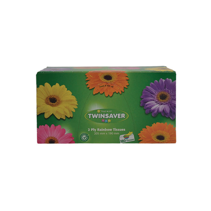 Twinsaver 2-Ply Rainbow Tissues