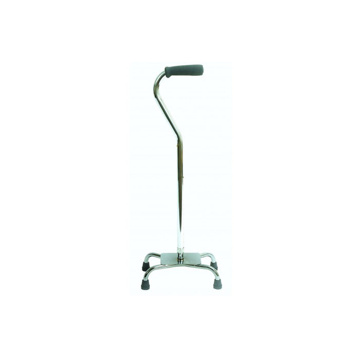Silver Quad cane with large base