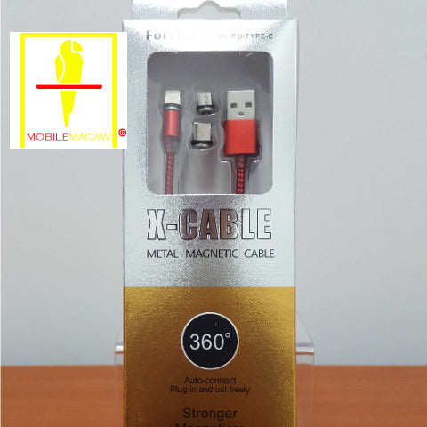 3 In 1 Magnetic Lightning / Type-C / Micro-USB Phone Cable Set