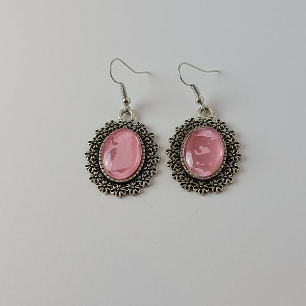 Pink and Glitter Earrings