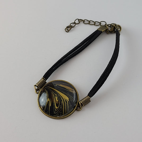 Black and Gold Bracelet