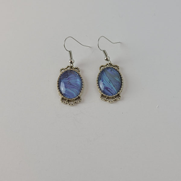 Blue, Purple, and Grey Earrings