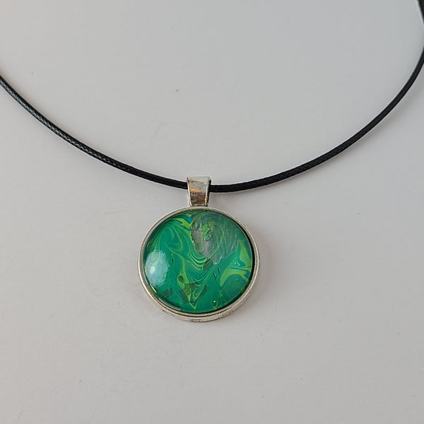 Green and Yellow Round Pendant