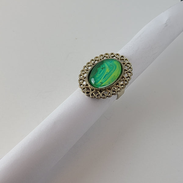 Green and Yellow Ring