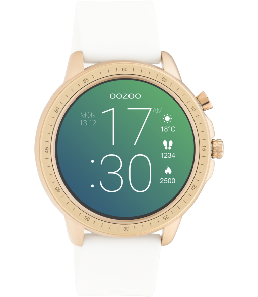 Oozoo Smartwatch  Q00322  wit-roségold