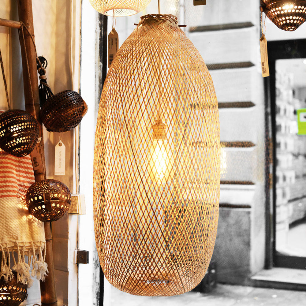 Japanese bamboo lamp