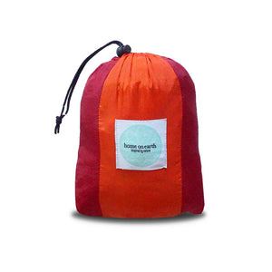 Parachute silk Hammock - Bordeaux/Orange