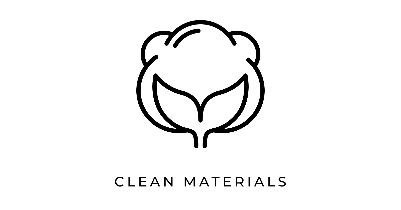 plant icon that says clean materials