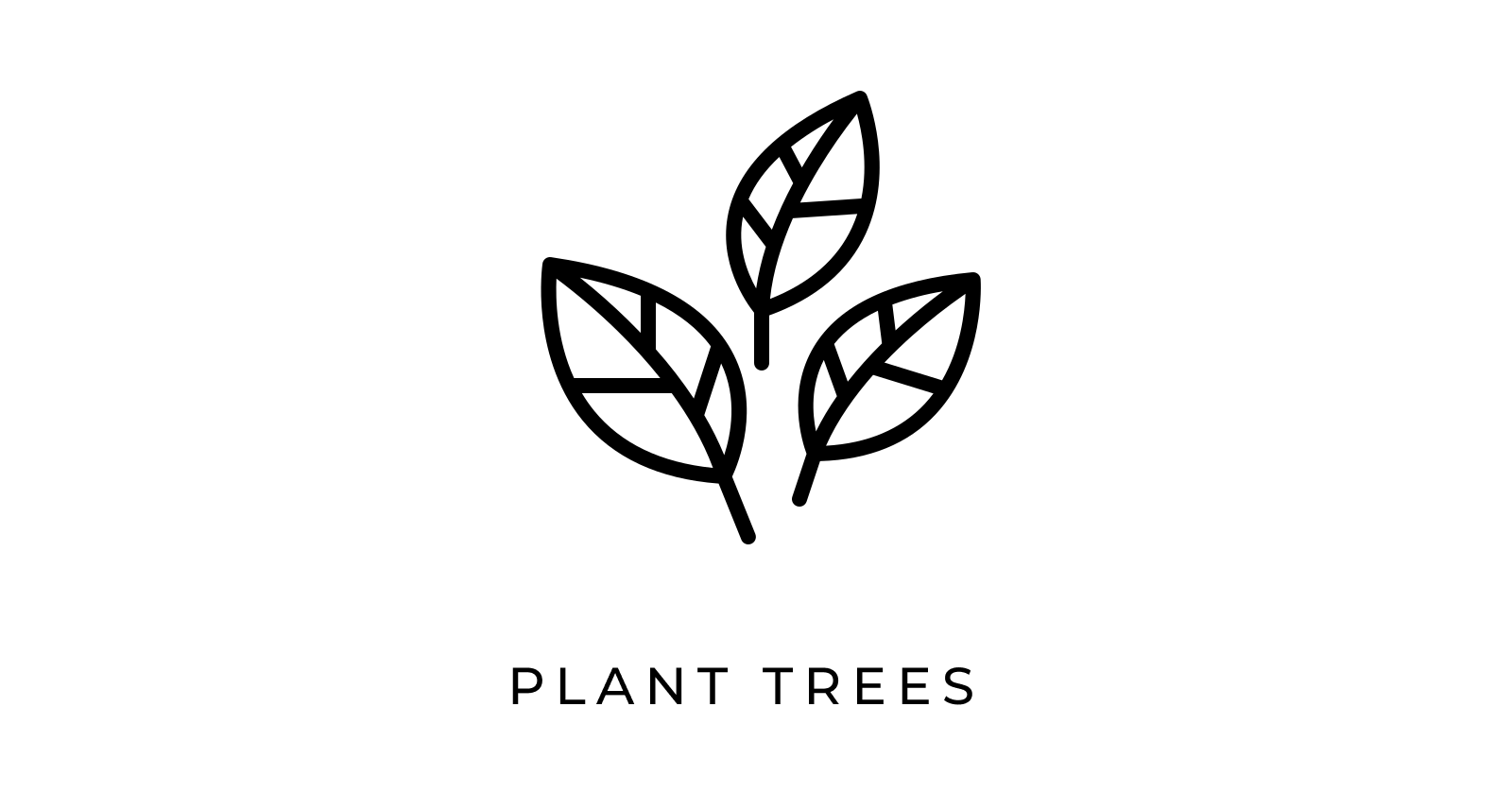 leaf icon that says plant trees