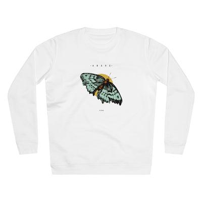 Think Green Butterfly organic sweatshirt in white