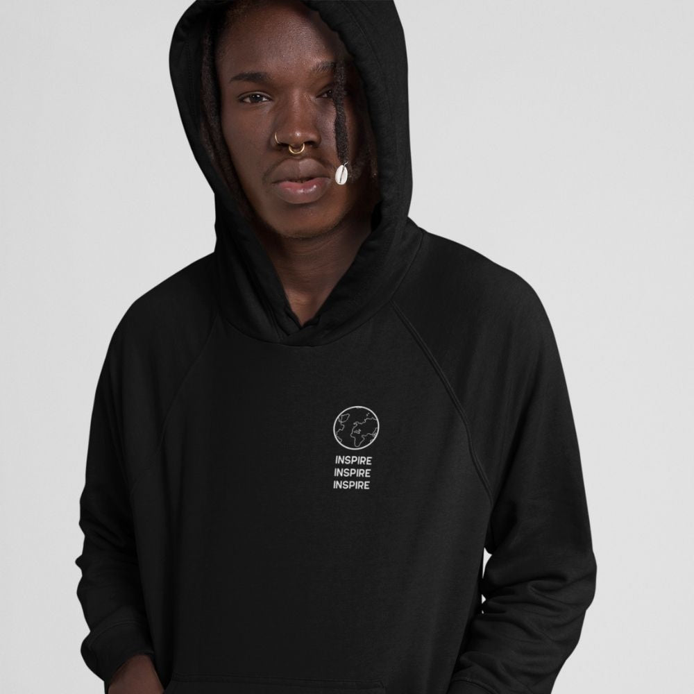 Inspire One Earth organic hoodie in black