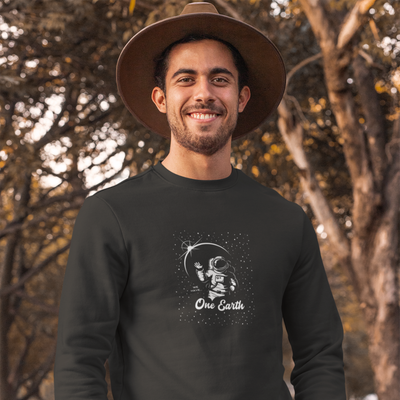 One Earth Pure Astro organic sweatshirt in black