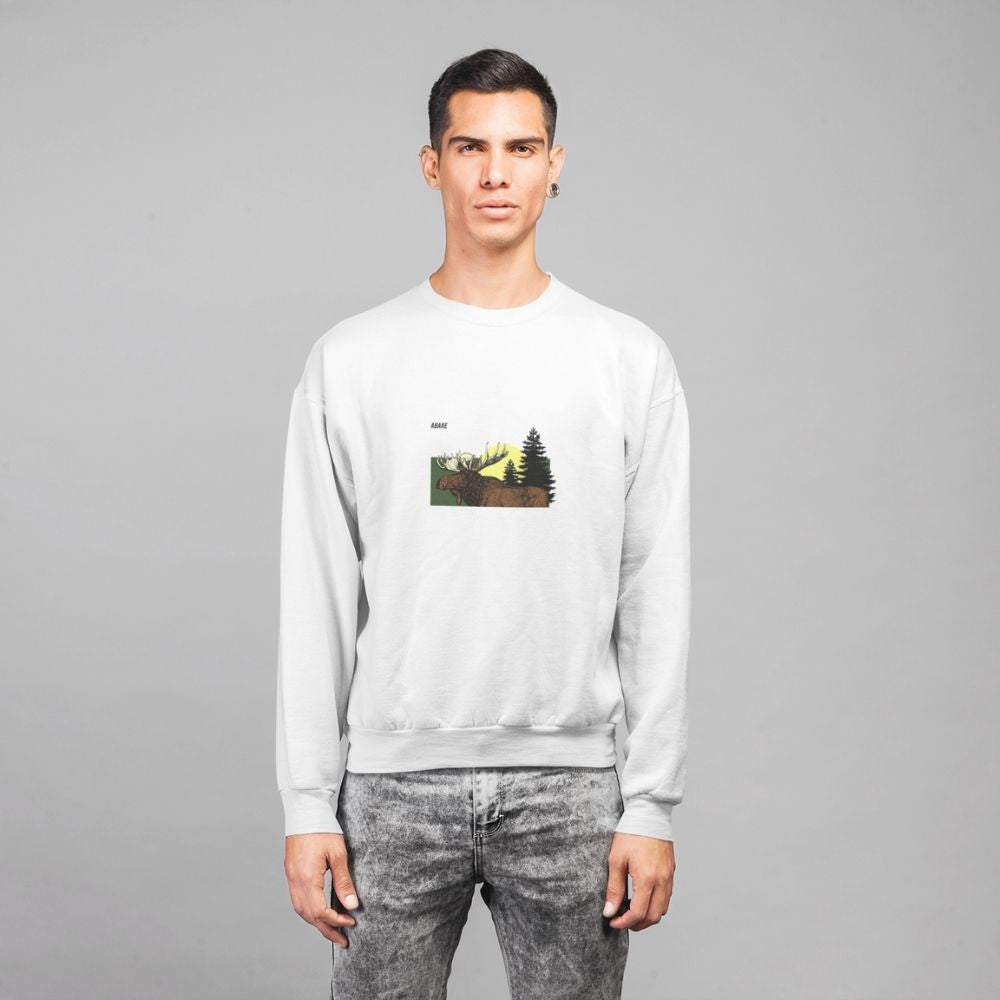 Moose Lucha organic sweatshirt in white