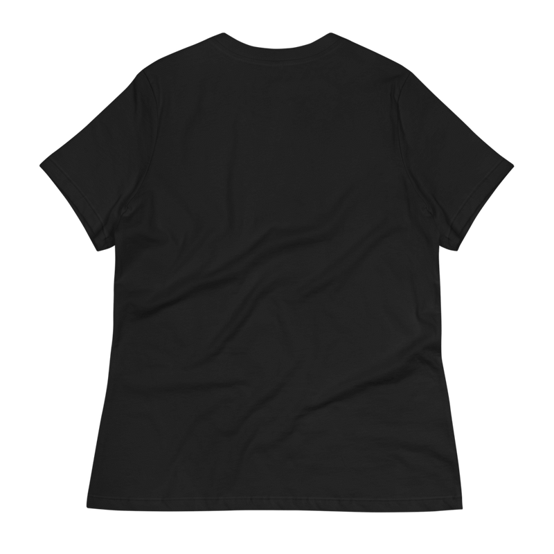 black t shirt with white logo