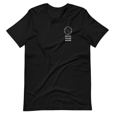 Black shirt that says inspire