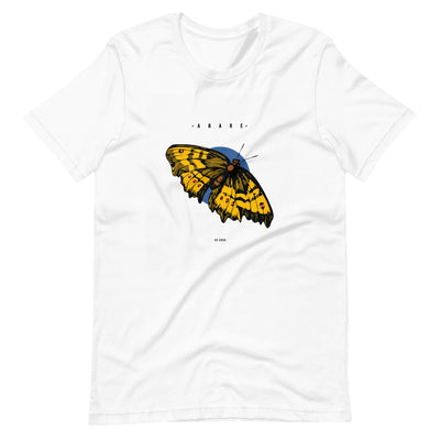 White butterfly t shirt