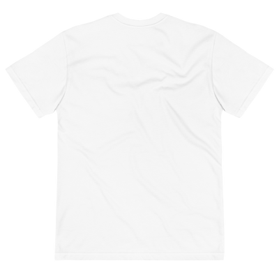 Back of white t shirt