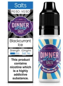Dinner Lady Blackcurrant Ice Nic Salt - Vapepit