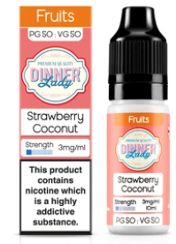 Dinner Lady Strawberry Coconut 50/50 - Vapepit