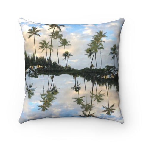 Hawaii Mirrored 01/03: REVERSIBLE Throw Pillow