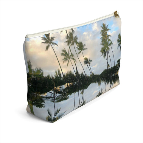 Hawaii Mirrored 01: Zipper T Bottom Pouch