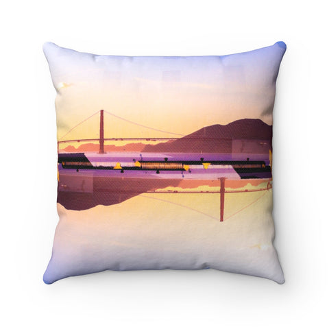Golden Gate Mirrored 01/02: REVERSIBLE Throw Pillow