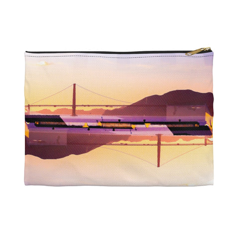 Golden Gate Mirrored 02: Zippered Accessory Pouch