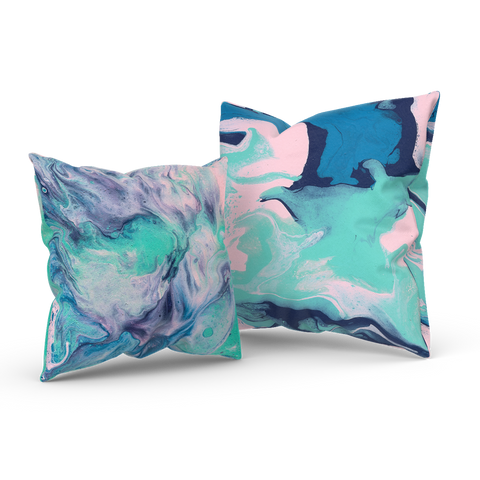 Daydreaming In The Spring 02/03: REVERSIBLE Throw Pillow