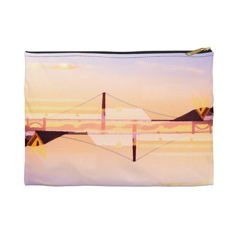 Golden Gate Mirrored 01: Zippered Accessory Pouch