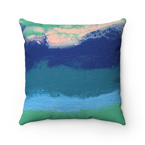Lost In The Waves 01/03: REVERSIBLE Throw Pillow