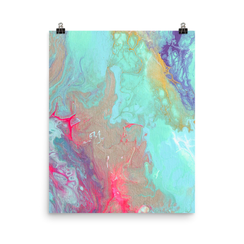 The Sky's Birth 04: Premium Luster Vertical Art Print