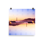 Golden Gate Mirrored 02: Premium Luster Square Print