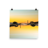 Golden Gate Mirrored 03: Premium Luster Square Print