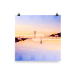 Golden Gate Mirrored 01: Premium Luster Square Print