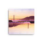 Golden Gate Mirrored 02: Square Canvas