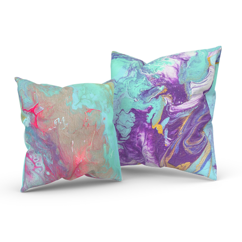The Sky's Birth 03/04: REVERSIBLE Square Throw Pillow