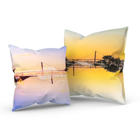 Golden Gate Mirrored 01/03: REVERSIBLE Throw Pillow