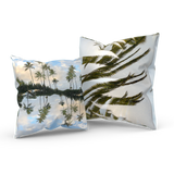 Hawaii Mirrored 01/02: REVERSIBLE Throw Pillow