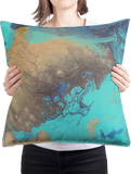 The Absent Twilight 02/03: REVERSIBLE Square Throw Pillow