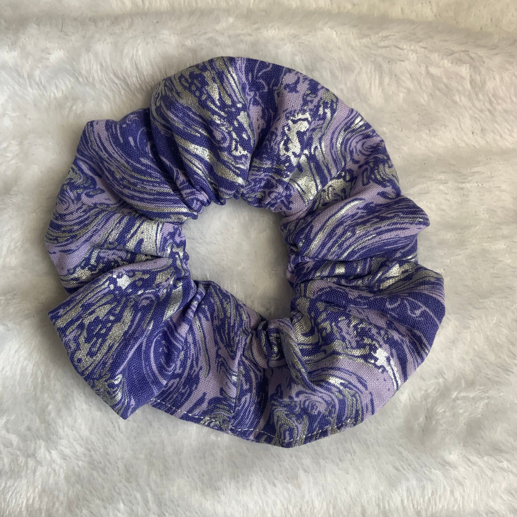 """Silver Grape Slushie"" Handmade Scrunchie"