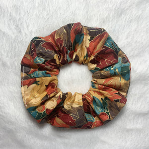 """Fall Leaves"" Handmade Scrunchie"