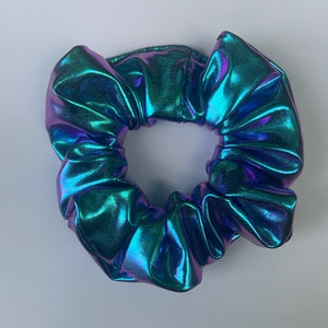 """Metallic Mermaid Duo Chrome"" Handmade Scrunchie"