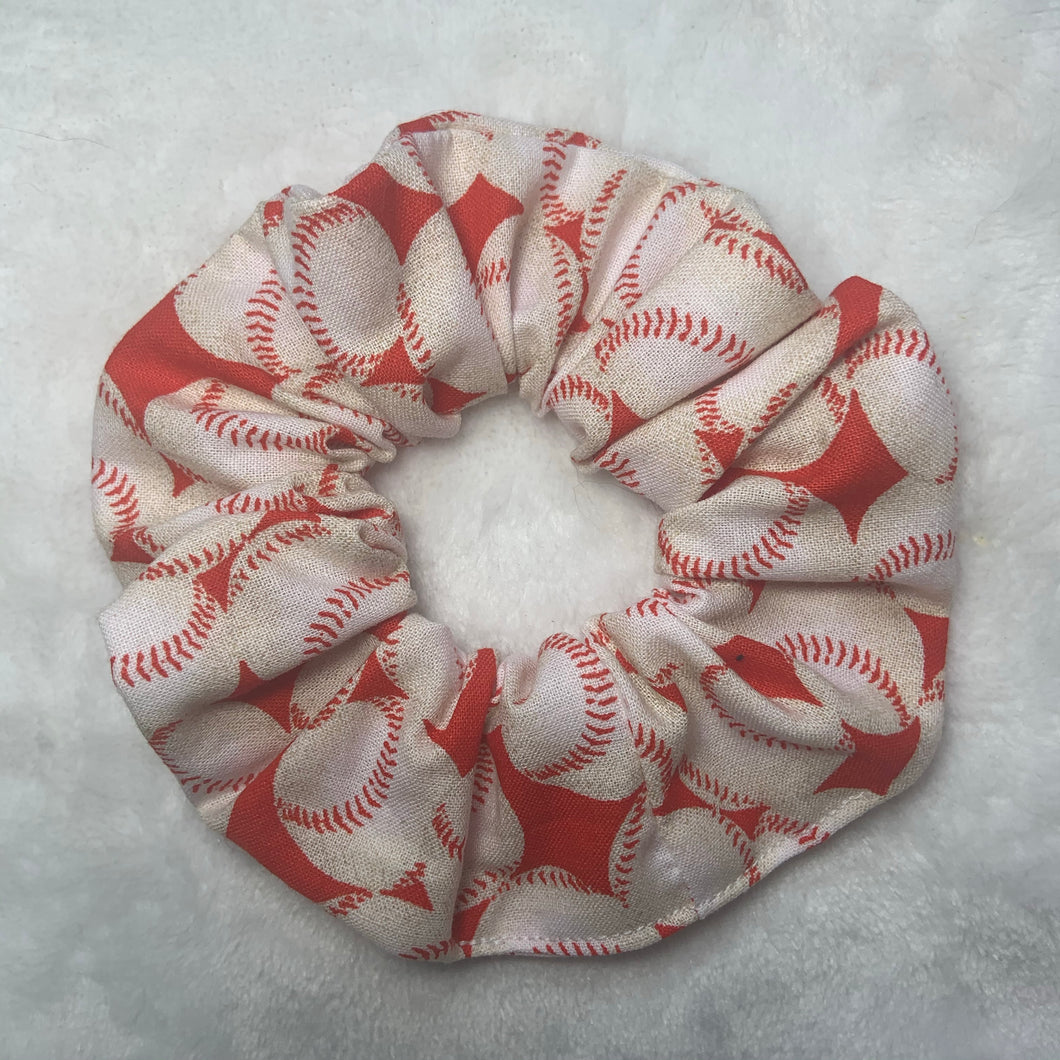 """Baseball"" Handmade Scrunchie"