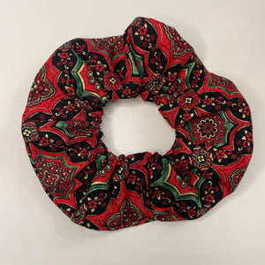 """Christmas Carpet"" Handmade Scrunchie"