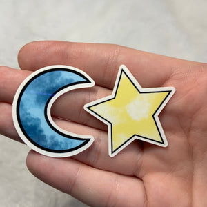 Moon and Star Sticker Pack