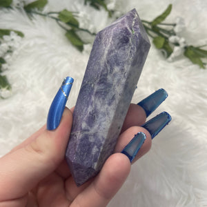 "Lepidolite Double Terminated Point ""A"""