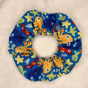 """Ocean Commotion"" Handmade Scrunchie"